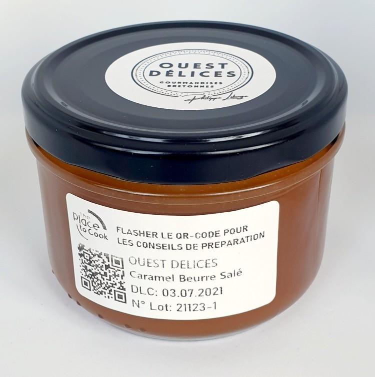 Pot de crème de caramel beurre salé 220g au sel de Guérande