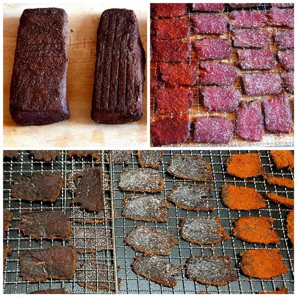 viande salée sous-vide après séchage
